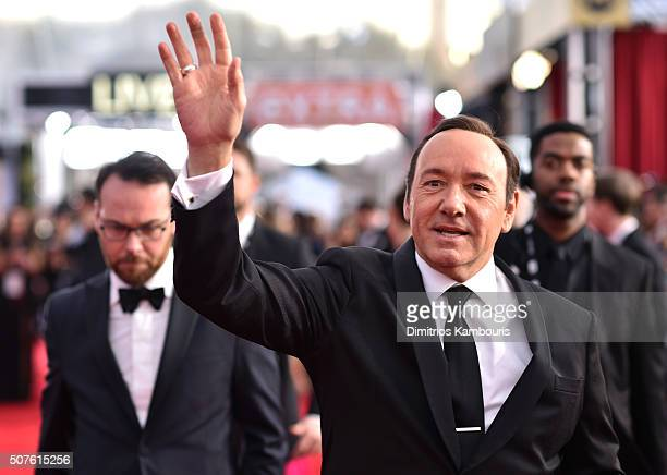 Actor Kevin Spacey attends The 22nd Annual Screen Actors Guild Awards at The Shrine Auditorium on January 30 2016 in Los Angeles California 25650_013