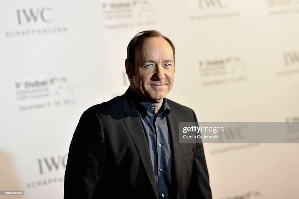 Actor <a gi-track='captionPersonalityLinkClicked' href=/galleries/search?phrase=Kevin+Spacey&family=editorial&specificpeople=202091 ng-click='$event.stopPropagation()'>Kevin Spacey</a> attends the Dubai International Film Festival and IWC Schaffhausen Filmmaker Award Gala Dinner and Ceremony at the One and Only Mirage Hotel on December 10, 2012 in Dubai, United Arab Emirates.