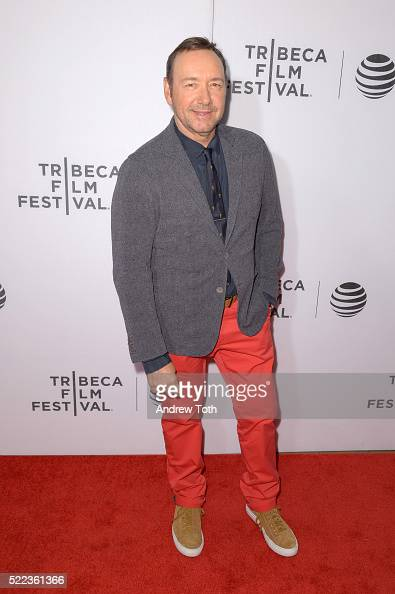 Actor Kevin Spacey attends the 'Elvis Nixon' premiere during the 2016 Tribeca Film Festival at John Zuccotti Theater at BMCC Tribeca Performing Arts...