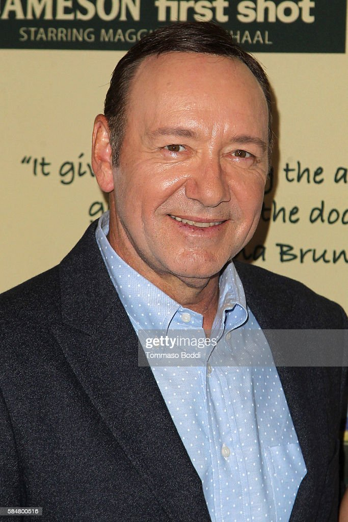 Actor Kevin Spacey attends the Jameson's 'First Shot' Competition Screening Party at Paramount Studios on July 30 2016 in Hollywood California