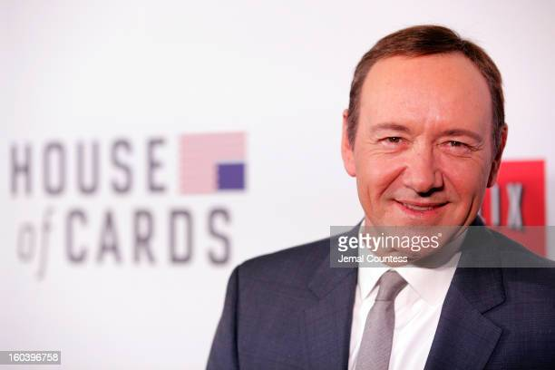 Actor Kevin Spacey attends the Netflix's 'House Of Cards' New York Premiere at Alice Tully Hall on January 30 2013 in New York City