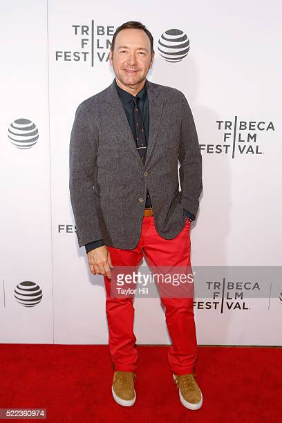 Actor Kevin Spacey attends the premiere of 'Elvis Nixon' at Borough of Manhattan Community College during the 2016 TriBeCa Film Festival on April 18...