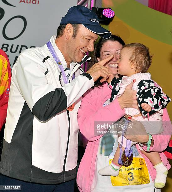 Actor Kevin Spacey attends the Victory Celebration at the Finish Line of the 2013 Audi Best Buddies Challenge Washington DC at Morven Park on October...