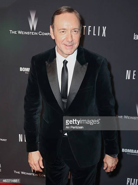 Actor Kevin Spacey attends The Weinstein Company Netflix's 2014 Golden Globes After Party presented by Bombardier FIJI Water Lexus Laura Mercier...
