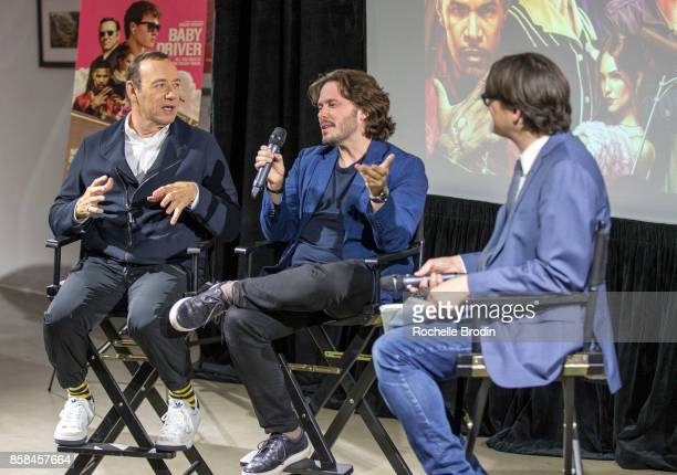 Actor Kevin Spacey Director Edgar Wright and reporter Mark Olsen talk candidly during the panel discussion at the Cars Arts Beats A Night Out With...