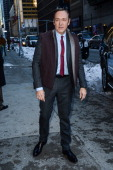 Actor Kevin Spacey enters the 'Late Show With David Letterman' taping at the Ed Sullivan Theater on February 17 2014 in New York City