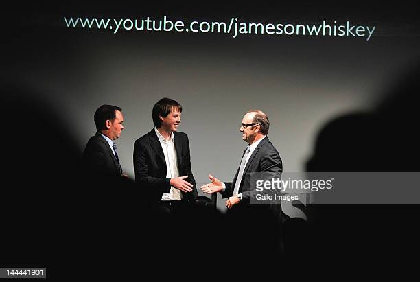 US actor Kevin Spacey greets Dana Brunnetti of Trigger street productions and South African Alan Shelley at the premiere of South African Alan...