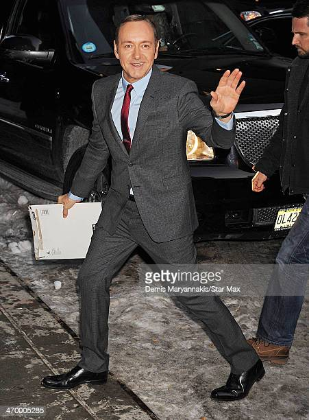 Actor Kevin Spacey is seen on February 17 2014 in New York City