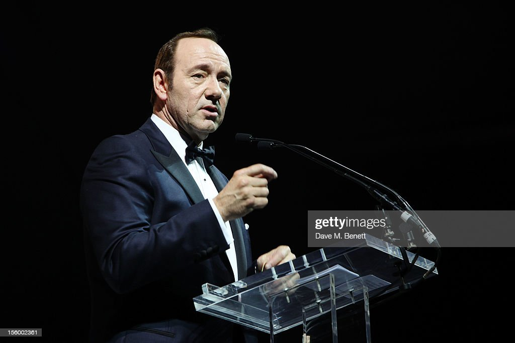 Actor <a gi-track='captionPersonalityLinkClicked' href=/galleries/search?phrase=Kevin+Spacey&family=editorial&specificpeople=202091 ng-click='$event.stopPropagation()'>Kevin Spacey</a> speaks during the auction at the Grey Goose Winter Ball at Battersea Power Station on November 10, 2012 in London, England.
