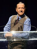Actor Kevin Spacey speaks onstage at the 2014 Thelonious Monk International Jazz Trumpet Competition at Dolby Theatre on November 9 2014 in Hollywood...