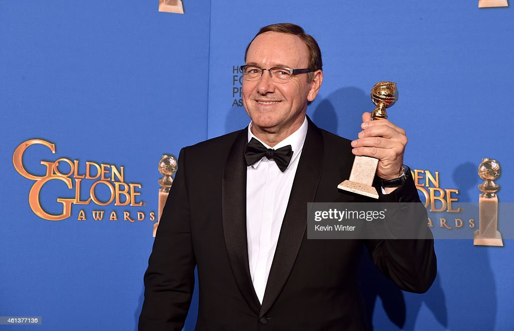Actor Kevin Spacey winner of Best Actor in a Television Series – Drama for 'House of Cards' poses in the press room during the 72nd Annual Golden...
