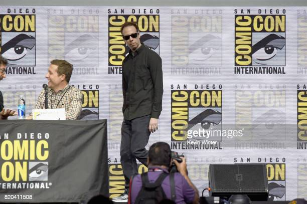 Actor Kevin Sussman walks onstage at the 'The Big Bang Theory' panel during ComicCon International 2017 at San Diego Convention Center on July 21...