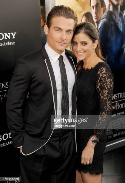 Actor Kevin Zegers and Jaime Feld arrive at the Los Angeles premiere of 'The Mortal Instruments City Of Bones' at ArcLight Cinemas Cinerama Dome on...