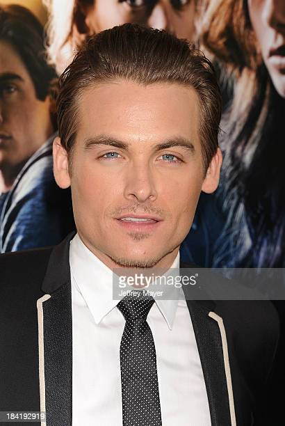 Actor Kevin Zegers arrives at the Los Angeles premiere of 'The Mortal Instruments City Of Bones' at ArcLight Cinemas Cinerama Dome on August 12 2013...