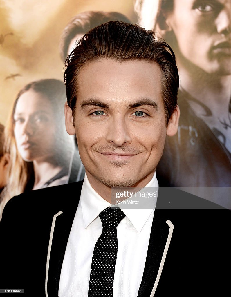 Actor <a gi-track='captionPersonalityLinkClicked' href=/galleries/search?phrase=Kevin+Zegers&family=editorial&specificpeople=622283 ng-click='$event.stopPropagation()'>Kevin Zegers</a> arrives at the premiere of Screen Gems & Constantin Films' 'The Mortal Instruments: City Of Bones' at the Cinerama Dome Theatre on August 12, 2013 in Los Angeles, California.