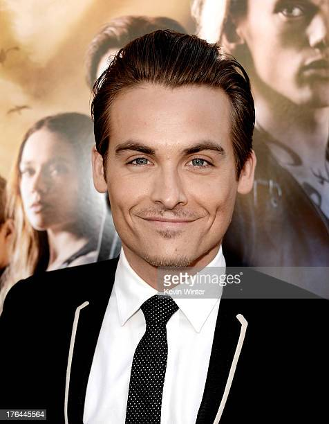 Actor Kevin Zegers arrives at the premiere of Screen Gems Constantin Films' 'The Mortal Instruments City Of Bones' at the Cinerama Dome Theatre on...
