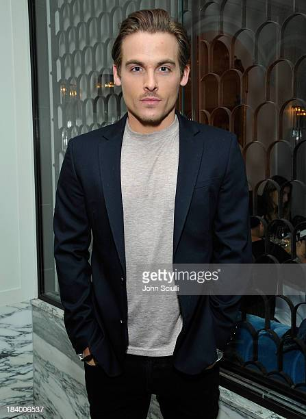 Actor Kevin Zegers attends a Tracy Paul dinner for Uno de 50 at Cecconi's Restaurant on October 10 2013 in Los Angeles California