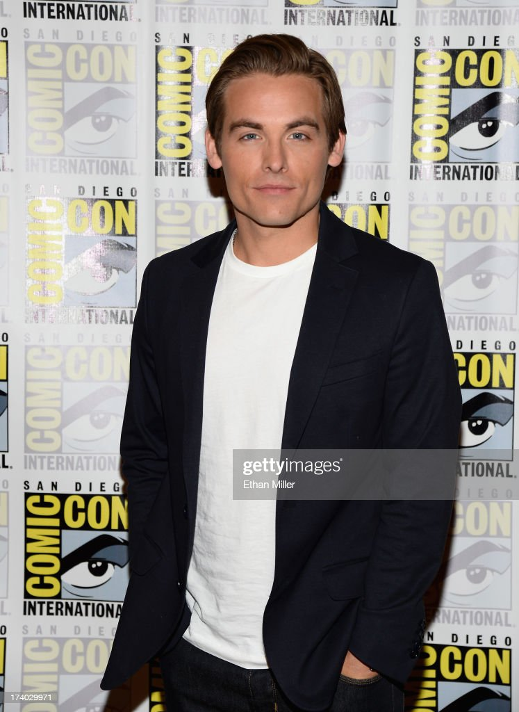 Actor <a gi-track='captionPersonalityLinkClicked' href=/galleries/search?phrase=Kevin+Zegers&family=editorial&specificpeople=622283 ng-click='$event.stopPropagation()'>Kevin Zegers</a> attends 'The Mortal Instruments: City of Bones' press line during Comic-Con International 2013 at the Hilton San Diego Bayfront Hotel on July 19, 2013 in San Diego, California.