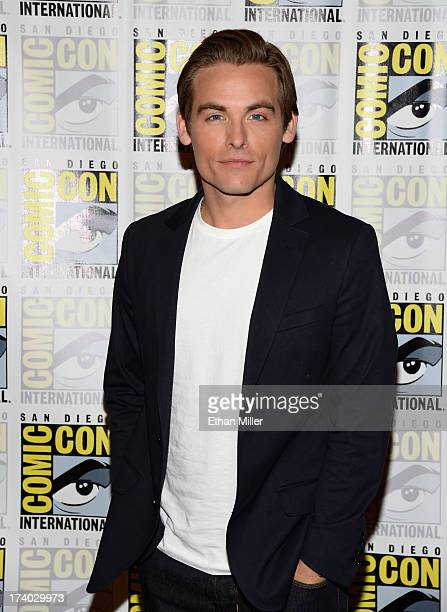 Actor Kevin Zegers attends 'The Mortal Instruments City of Bones' press line during ComicCon International 2013 at the Hilton San Diego Bayfront...