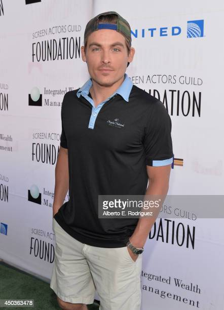 Actor Kevin Zegers attends the Screen Actor's Guild Foundation's 5th Annual 'Actors Fore Actors' Los Angeles Golf Classic at Lakeside Golf Club on...