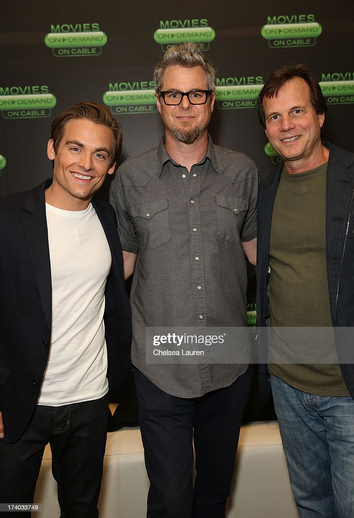 Actor <a gi-track='captionPersonalityLinkClicked' href=/galleries/search?phrase=Kevin+Zegers&family=editorial&specificpeople=622283 ng-click='$event.stopPropagation()'>Kevin Zegers</a>, director Jeff Renfroe, and actor <a gi-track='captionPersonalityLinkClicked' href=/galleries/search?phrase=Bill+Paxton&family=editorial&specificpeople=241223 ng-click='$event.stopPropagation()'>Bill Paxton</a> attends 'The Colony' at The Movies On Demand Lounge during Comic-Con International 2013 at Hard Rock Hotel San Diego on July 19, 2013 in San Diego, California.