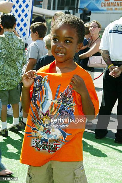 Actor Khamani Griffin arrives for the premiere of Warner Bros 'YuGiOh The Movie' at the Chinese Theater August 7 2004 in Los Angeles California