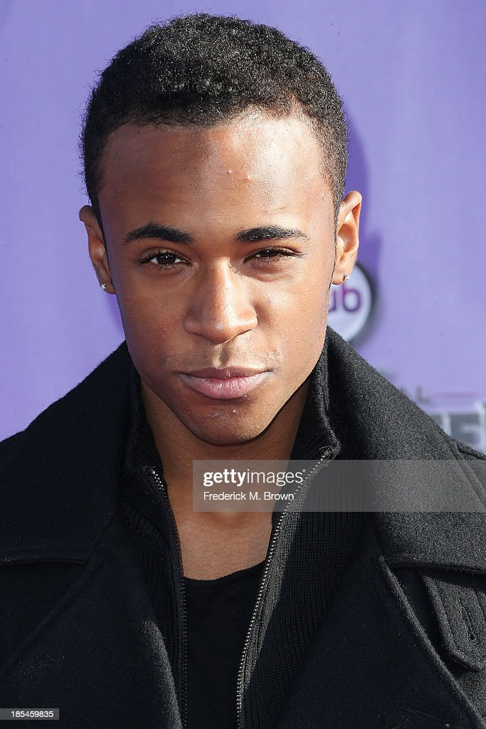 Actor Khylin Rhambo attends Hub Network's First Annual Halloween Bash in Barker Hangar at the Santa Monica Airport on October 20, 2013 in Santa Monica, California.