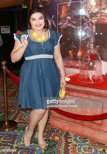 Actor Kiana Lyz Rivera attends Red Walk special screening of Disney's 'Beauty And The Beast' at El Capitan Theatre on March 23 2017 in Los Angeles...