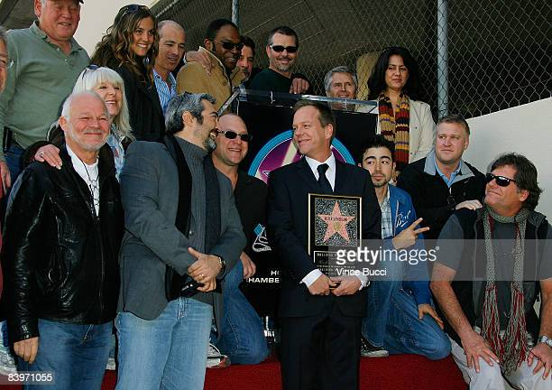 Actor Kiefer Sutherland and crew members from his television series '24' attend the ceremony honoring him with a star on the Hollywood Walk of Fame...
