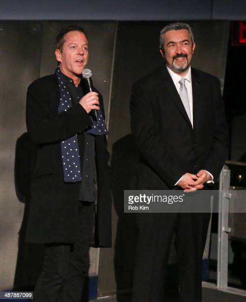 Actor Kiefer Sutherland and director and executive producer Jon Cassar attend the '24 Live Another Day' world premiere at Intrepid Sea on May 2 2014...