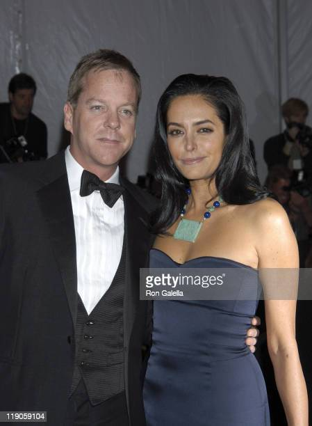 Actor Kiefer Sutherland and girlfriend Siobhan Bonnouvrier attend 'The Model as Muse Embodying Fashion' Costume Institute Gala at The Metropolitan...