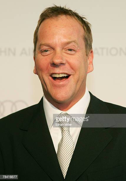Actor Kiefer Sutherland arrives at the 15th Annual Elton John AIDS Foundation Academy Awards viewing party held at the Pacific Design Center on...