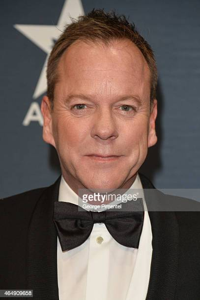 Actor Kiefer Sutherland arrives at the 2015 Canadian Screen Awards at the Four Seasons Centre for the Performing Arts on March 1 2015 in Toronto...