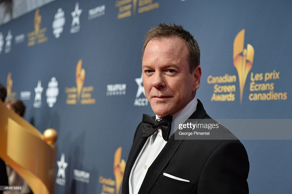 Actor Kiefer Sutherland arrives at the 2015 Canadian Screen Awards at the Four Seasons Centre for the Performing Arts on March 1, 2015 in Toronto, Canada.