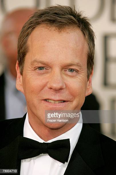Actor Kiefer Sutherland arrives at the 64th Annual Golden Globe Awards at the Beverly Hilton on January 15 2007 in Beverly Hills California