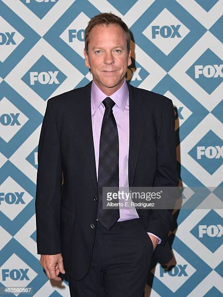 Actor Kiefer Sutherland arrives to the 2014 Fox AllStar Party at the Langham Hotel on January 13 2014 in Pasadena California