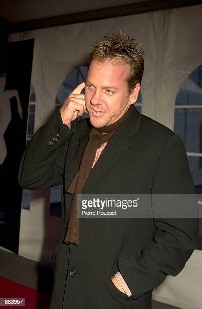 Actor Kiefer Sutherland attends a private party at Mel's studio on June 8 2002 during the F1 Grand Prix weekend in Montreal Canada