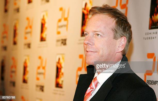 Actor Kiefer Sutherland attends a world premiere screening for '24 Redemption' at AMC Theaters Empire 25 on November 19 2008 in New York City