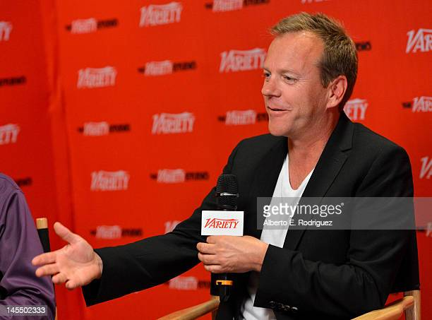 Actor Kiefer Sutherland attends Day 2 of the Variety EMMY studio sponsored by Motorola on May 31 2012 in West Hollywood California