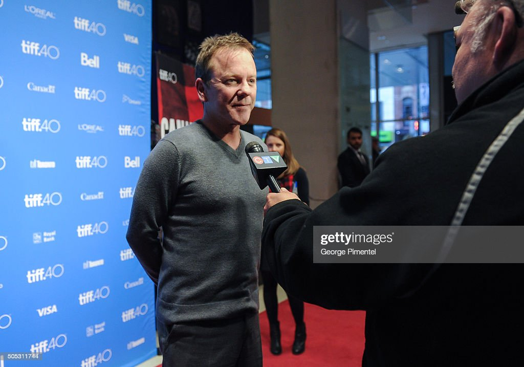 Actor Kiefer Sutherland attends 'In Conversation with Kiefer Sutherland' as part of the Canada's Top Ten Film Festival held at TIFF Bell Lightbox on January 16, 2016 in Toronto, Canada.