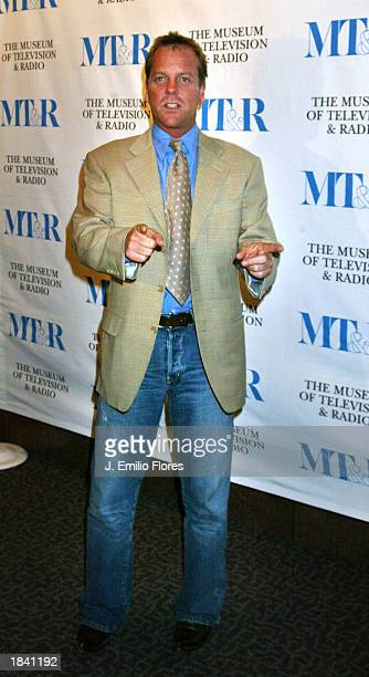 Actor Kiefer Sutherland attends the 20th Anniversary William's Paley Television Festival at Director's Guild of America complex on March 10 2003 in...
