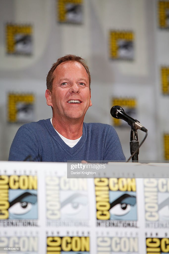 Actor Kiefer Sutherland attends the '24: Live Another Day' panel during Comic-Con International at San Diego Convention Center on July 24, 2014 in San Diego, California.