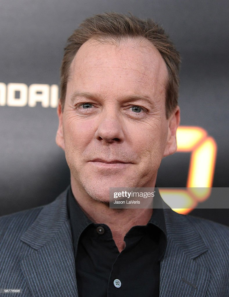 Actor Kiefer Sutherland attends the '24' series finale party at Boulevard3 on April 30, 2010 in Hollywood, California.