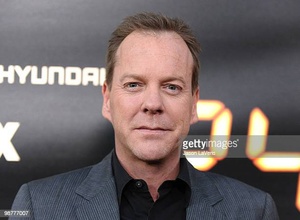 Actor Kiefer Sutherland attends the '24' series finale party at Boulevard3 on April 30 2010 in Hollywood California