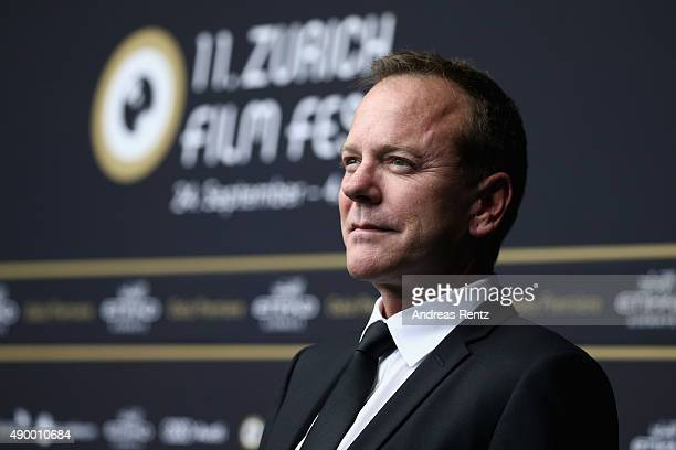 Actor Kiefer Sutherland attends the 'Forsaken' Premiere during the Zurich Film Festival on September 25 2015 in Zurich Switzerland The 11th Zurich...