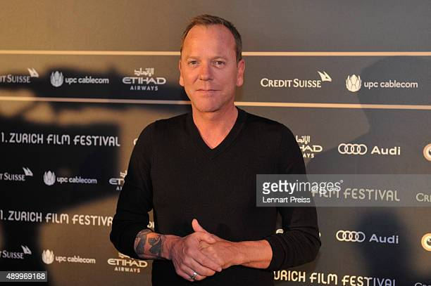 Actor Kiefer Sutherland attends the 'Forsaken' Press Conference during the Zurich Film Festival on September 25 2015 in Zurich Switzerland The 11th...
