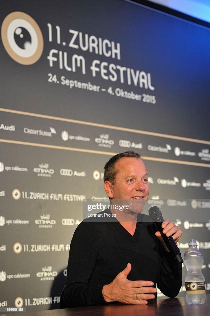 Actor Kiefer Sutherland attends the 'Forsaken' Press Conference during the Zurich Film Festival on September 25, 2015 in Zurich, Switzerland. The 11th Zurich Film Festival will take place from September 23 until October 4.