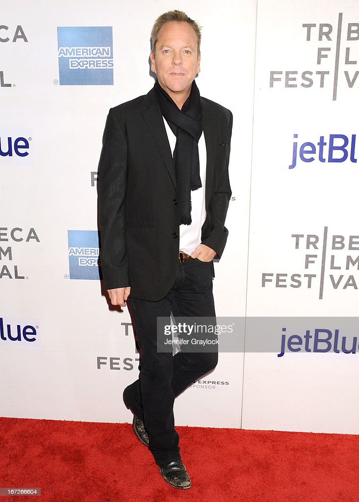 Actor Kiefer Sutherland attends the 'Reluctant Fundamentalist' US Premiere - 2013 Tribeca Film Festival at BMCC Tribeca PAC on April 22, 2013 in New York City.