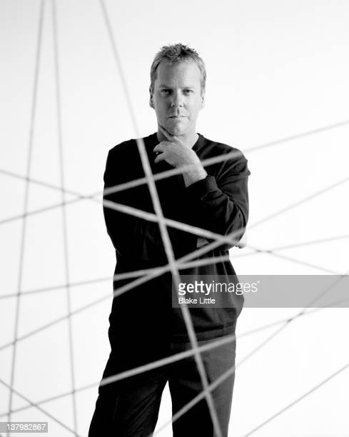 Actor Kiefer Sutherland is photographed for Parade Magazine on December 18 2006 in Los Angeles California