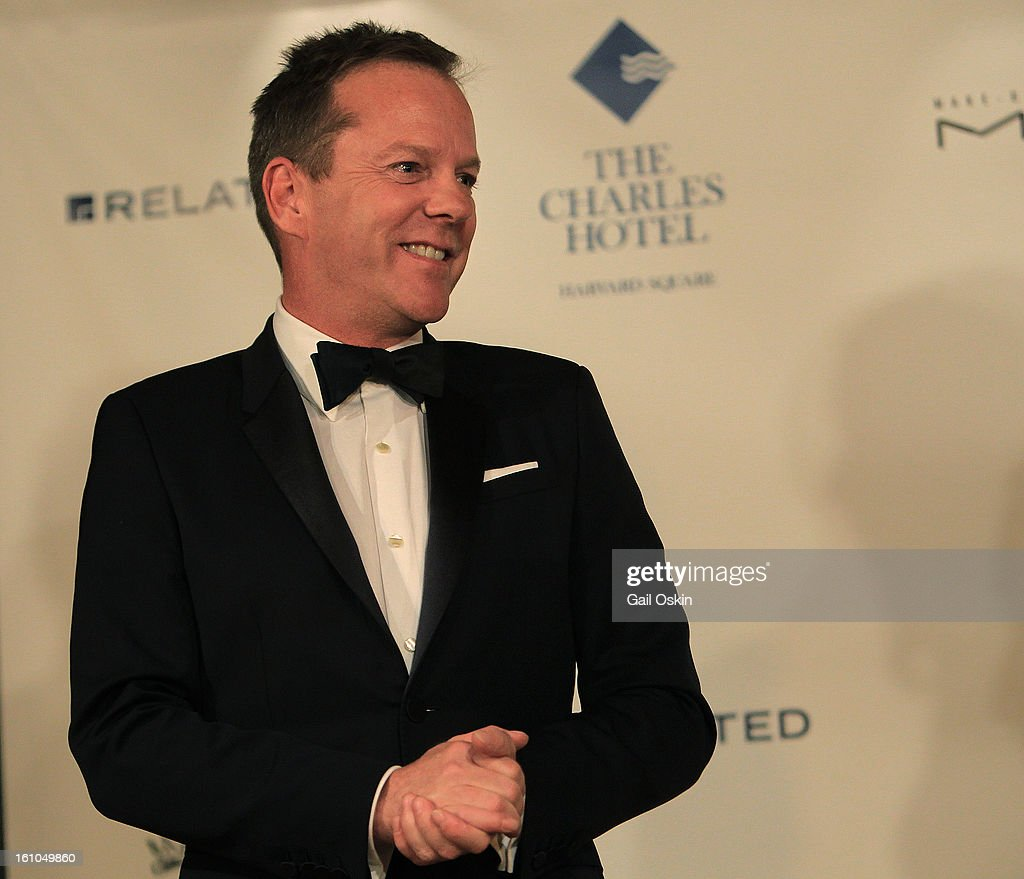 Actor <a gi-track='captionPersonalityLinkClicked' href=/galleries/search?phrase=Kiefer+Sutherland&family=editorial&specificpeople=203142 ng-click='$event.stopPropagation()'>Kiefer Sutherland</a> is roasted by the Hasty Pudding Theatricals 2013 Man Of The Year honoring <a gi-track='captionPersonalityLinkClicked' href=/galleries/search?phrase=Kiefer+Sutherland&family=editorial&specificpeople=203142 ng-click='$event.stopPropagation()'>Kiefer Sutherland</a> on February 8, 2013 in Cambridge, Massachusetts.